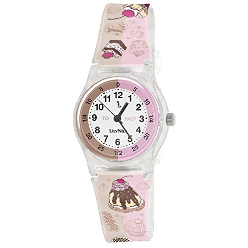 Price comparison product image Lily Nily Kids' Plastic Cupcakes Stainless Steel Watch