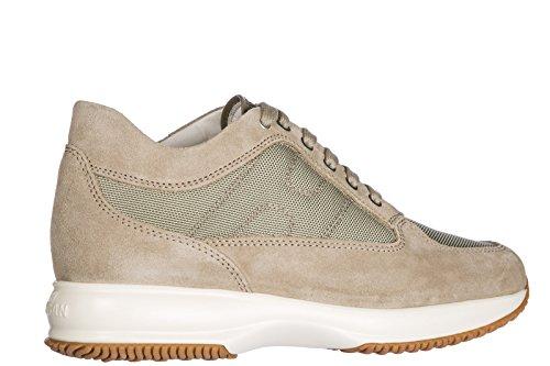 Scarpe Da Uomo Da Uomo Sneakers Hogan Scarpe Beige Interattivo Scamosciato