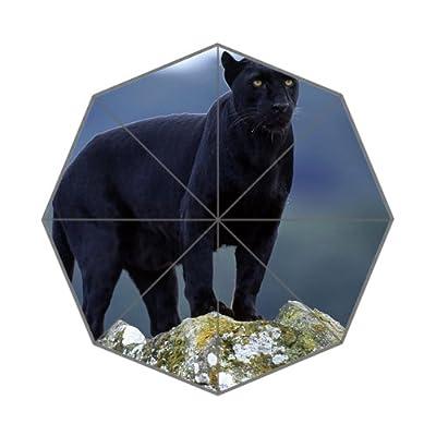 Black Panther Imprimé animal Pliable Parapluie Beige