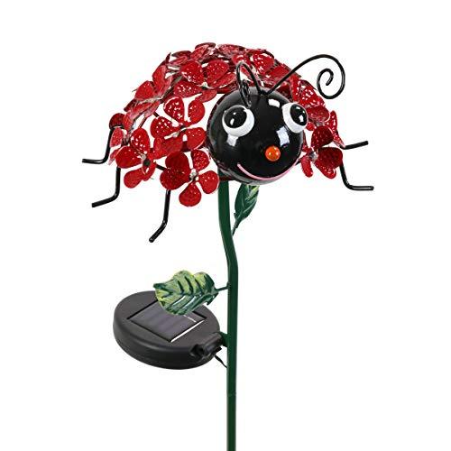 Exhart Ladybug Light Garden Stake – Red Ladybug