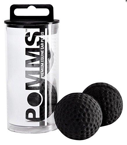 Pomms Equestrian Earplugs (Black, HRSE)