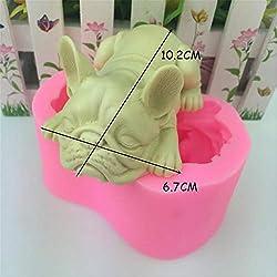 3D Dog Silicone Mold Fondant Mousse Cake Decoratin