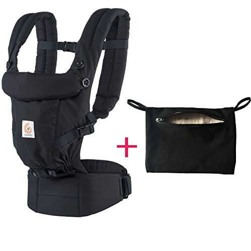 Ergobaby Adapt 3 Position Baby Carrier and Storage Pocket (black) by Ergobaby