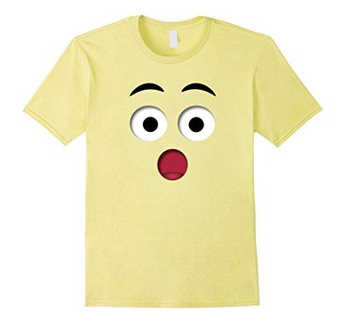 Mens Halloween Emoji Surprise Costume Shirt Kinder Teachers Team Large Lemon - Smiling Emoji Adult Mask