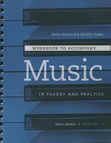 Workbook t/a Music in Theory and Practice, Volume I: 1