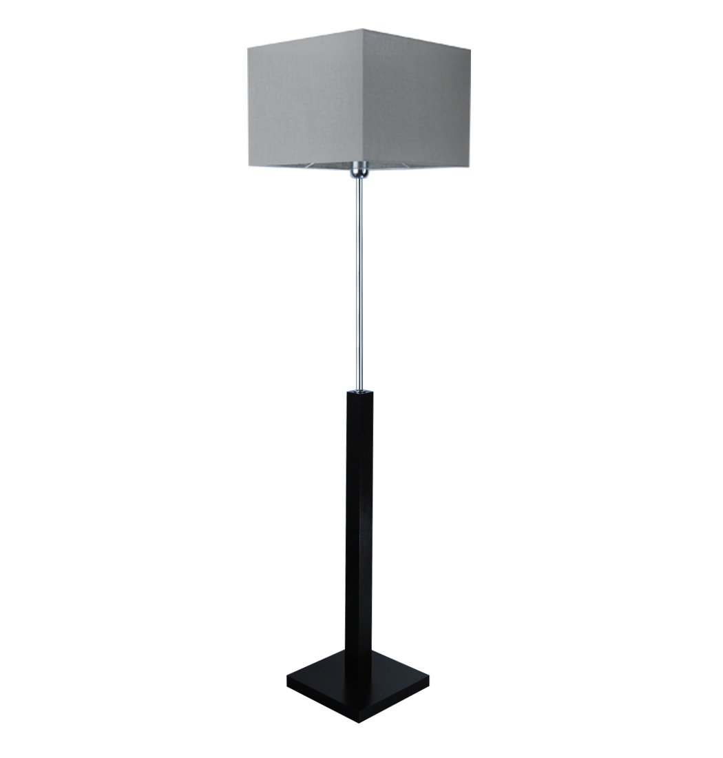 Stehlampe, Stehleuchte - HausLeuchten - LP3ORD - WENGE - - - Massivholz, Deckenfluter, Standleuchte (ORANGE) 956804