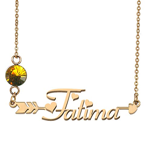 Custom Any Name Fatima Necklaces Birthstone Gifts]()