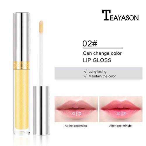 (Womens Lipstick ,LtrottedJ Lip Gloss Color Changing Flower Shiny Beauty Lipstick Moisturizing ,Long Lasting (B))