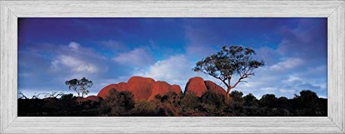 - Easy Art Prints Panoramic Images's 'Low angle view of a sandstone, Olgas, Uluru-Kata Tjuta National Park, Northern Territory, Australia' Premium Framed Canvas Art - 36