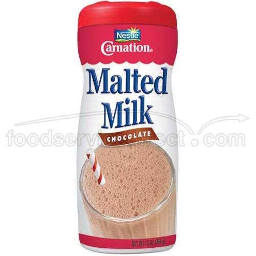 Nestle Carnation Chocolate Malted Milk, 13 Ounce -- 6 per case.