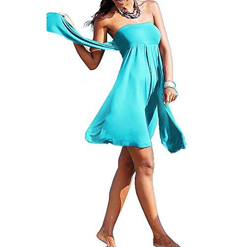 Hisea - Traje de una pieza - Sin mangas - para mujer Azul