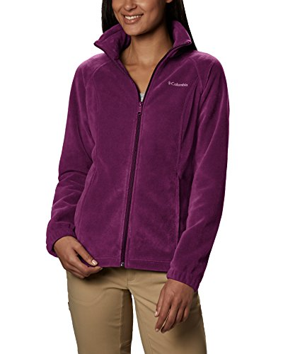 Columbia Women's Benton Springs Classic Fit Full Zip Soft Fleece Jacket, Dark Raspberry, X-Large -