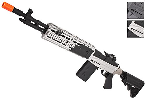 Evike CYMA M14 RIS EBR Custom Full Metal Airsoft AEG Sniper Rifle - Dual Tone (Package: Gun Only) - (39121)