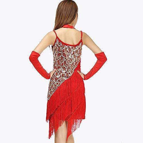 3761c456f848 Concorrenza Red Nappa Maniche Gonna Palcoscenico Xhtw Di Donna Latino red  Abiti Festa Senza Elegante Vestito Professionale Flessibile ...