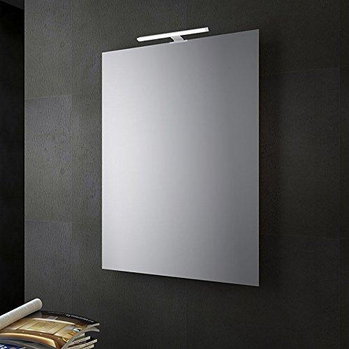 San Marco Specchio bagno reversibile con lampada led 80x60 cm