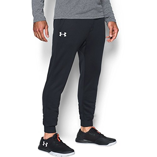 Under Armour Men's Storm Fleece Joggers Pants, Medium, Black/White