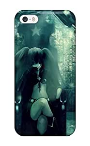 Rolando Sawyer Johnson's Shop 1446696K67902383 PC Shockproof/dirt-proof Black Rock Shooter For Case Iphone 4/4S Cover