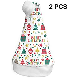 YISHOW Merry Boxes Toys Classic Handmade Soft Christmas Hat and Santa Hats (2pcs)