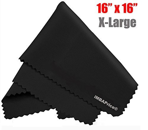 iMBAPrice® Premium (16 x 16) Washable Extra Large Microfiber Cleaning Cloth for Samsung LCD/LED and Plasma TV Screen and More IC-SAMMC16x16-1PK