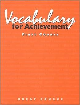 Amazon vocabulary for achievement 1st course 9780669464771 amazon vocabulary for achievement 1st course 9780669464771 margaret ann richek arlin t mcrae susan weiler books fandeluxe Gallery