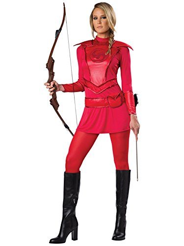 Warrior Huntress Adult Costume Red - X-Large