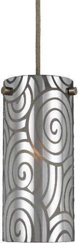 Cal Lighting PN-1019/6-BS Frosted Cylinder Pendant Light - Cylinder Pendant Lighting