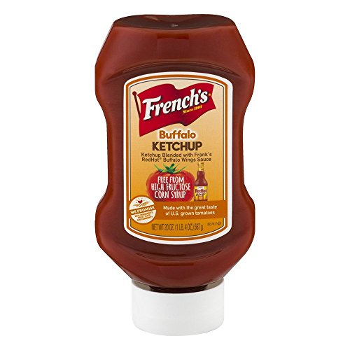 French's Buffalo Ketchup (Spicy Ketchup, Gluten Free, No High Fructose Corn Syrup), 20 oz