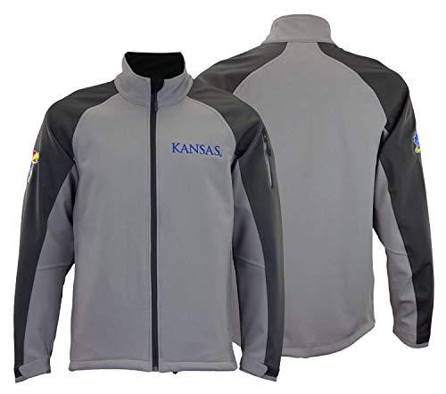(Outerstuff NCAA Men's Kansas State Jayhawks Fleece Jacket, Grey)
