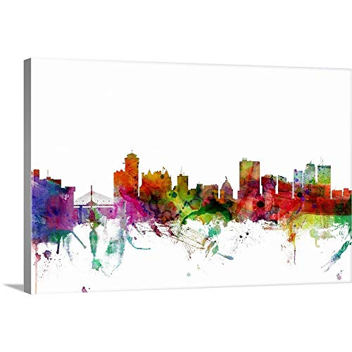 GREATBIGCANVAS Gallery-Wrapped Canvas Entitled Winnipeg Canada Skyline by Michael Tompsett 18