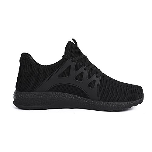 Image of Feetmat Women Walking Shoes Lace up Mesh Athletic Fashion Sneakers Black Size 8 M US
