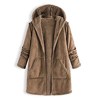 Sunmoot Hoodie Coat for Womens Plus Size Winter Warm Long