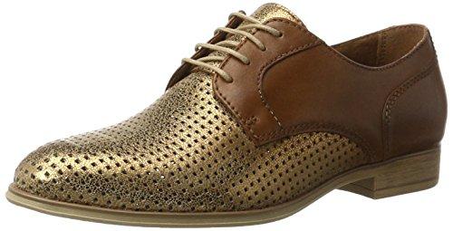 Tamaris 23209, Zapatos de Cordones Oxford para Mujer Marrón (NUT/BRONCE 393)