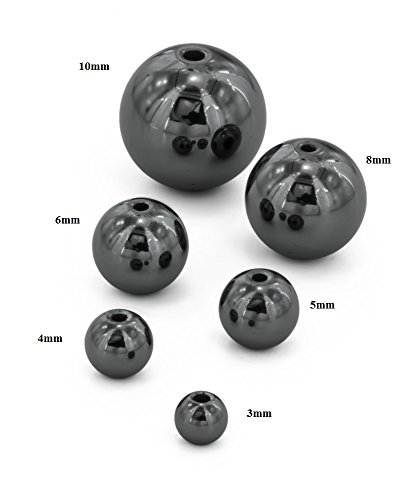 Painful Pleasures 10mm Hematite Captive Bead Replacement Ball