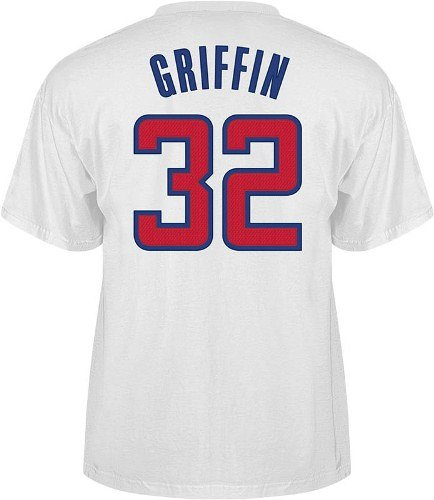1d525b18311 Amazon.com : Los Angeles Clippers Blake Griffin Player Name and Number T- Shirt (White) - Larg : Sports Related Merchandise : Sports & Outdoors