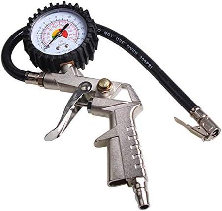 Pudincoco Multifonctionnel Air De Pression De Pneu De Voiture De Pneumatique Jauge Cadran Compteur Testeur De V/éhicule De Pneumatique Pistolet De Surveillance Outil noir