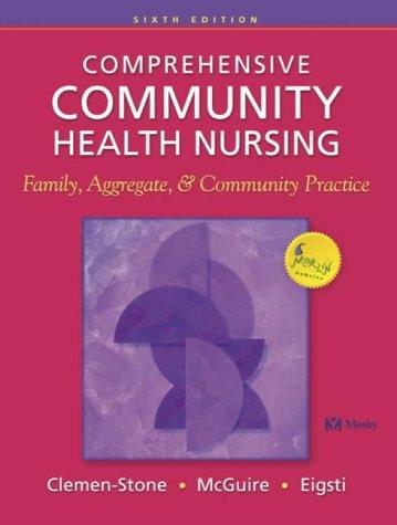 Comprehensive Community Health Nursing Family, Aggregate & Community Practice, 6e