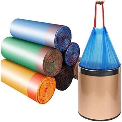 SHKRRB ごみ袋、高密度ポリエチレン製、巾着ごみ袋、家庭の台所に適した、55CM * 50CM、4ロール (Color : Multi-colored)