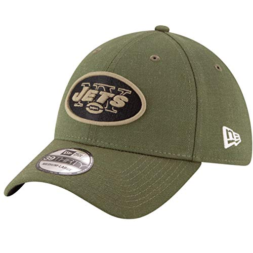 (New Era Mens NFL 2018 Salute to Service 39Thirty Flex Fit Hat (Large/X-Large, New York Jets))