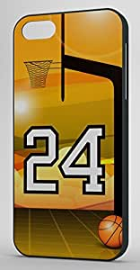 Basketball Sports Fan Player Number 24 Black Rubber Decorative iPhone 6 PLUS Case
