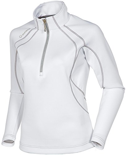 LPGA Women's Megan Layer Long Sleeve Pullover, Pure White/Ombre, X-Large