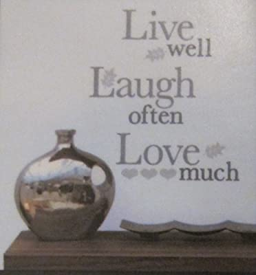 Main Street Wall Creations Live Well Laugh Often Love Much Wall Decal Sticker
