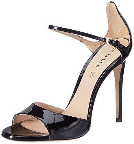 Dei Mille Women's Elena Wedge Heels Sandals Black (Nero) ouMAdopo1