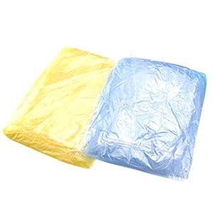 Garneck Waterproof Raincoat Vinyl One-Off Rainwear Clear Emergency Hooded Jacket for Children Camping Hiking Traveling…