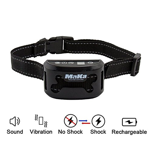 MaKa No Bark Collar Rechargeable Training Collar For Small To Large Dogs-Reflective, Pain-Free Barking Control Collar – Anti-Bark Collar With Beep Sound, Vibration And Safe Shock Function