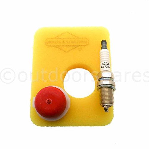 Genuine Briggs & Stratton Air Filter Plug & Primer Bulb Kit For E Series Engine Genuine UK Supplied Part