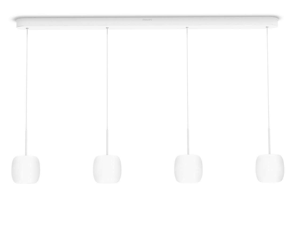 Philips Lighting Pendelleuchte, Metall, 4.5 W, Opalglas