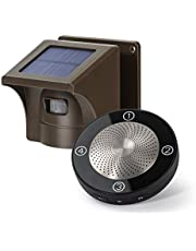 1/2 Mile Long Range Solar Wireless Driveway Alarm Outdoor Weather Resistant Motion Sensor & Detector- Security Alert System-Monitor & Protect Outside Property,No Need to Replace The Battery