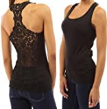 Best Camisoles - Vktech Woman Sexy Crochet Back Carved Flowers Vest Review
