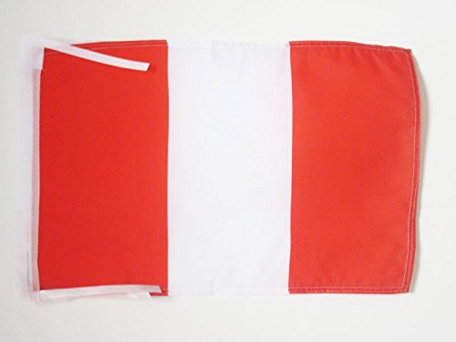AZ FLAG Peru Without arms Flag 18'' x 12'' Cords - Peruan Civil Small Flags 30 x 45cm - Banner 18x12 in