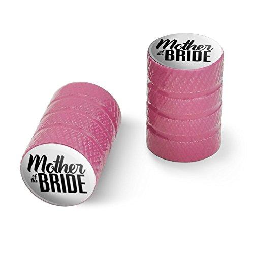 オートバイ自転車バイクタイヤリムホイールアルミバルブステムキャップ - ピンク花嫁のウェディングの母
